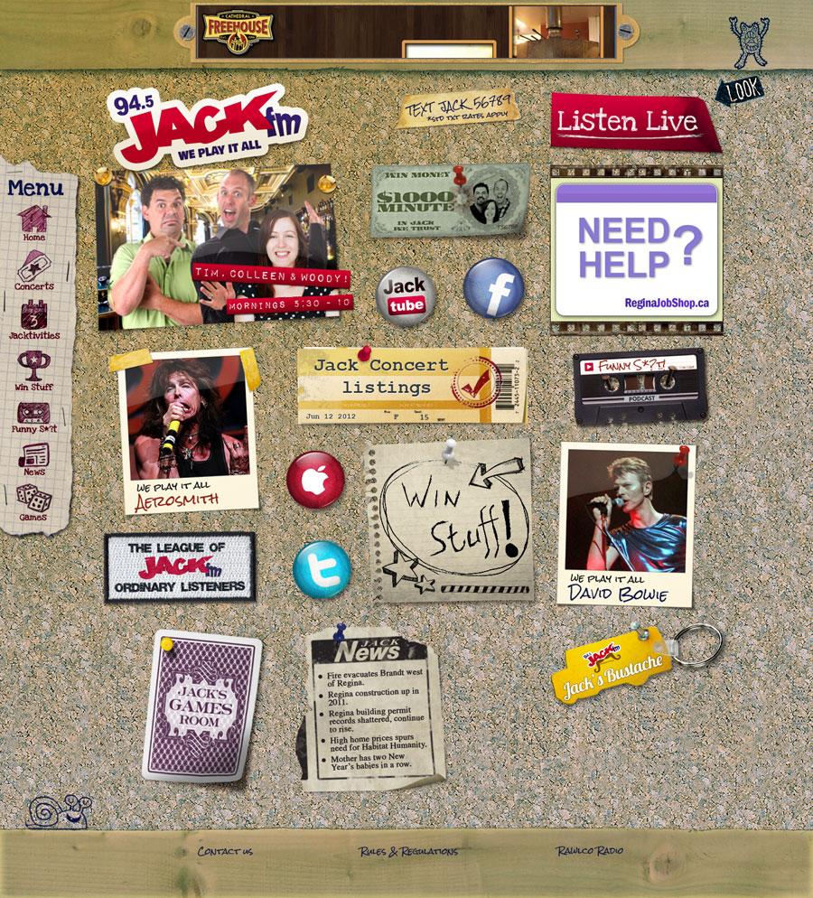 94.5 Jack FM Website Design