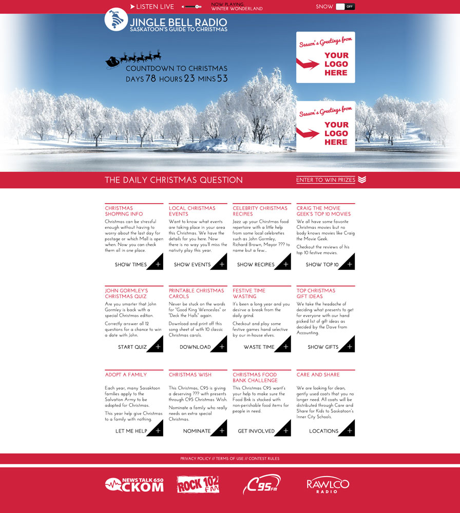 Jingle Bell Radio Website Design